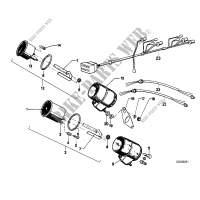 Additional instruments for BMW R 100 RT 1980