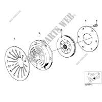 Clutch plate for BMW R 100 RT 1980